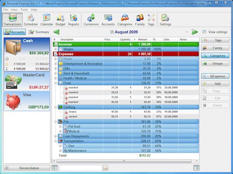 free home budget software