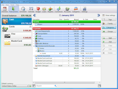 Alzex Personal Finance software 4 3
