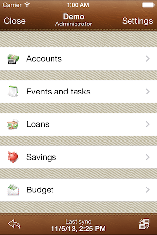 Alzex Personal Finance for iPhone