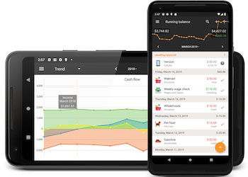 Personal finance app for Android