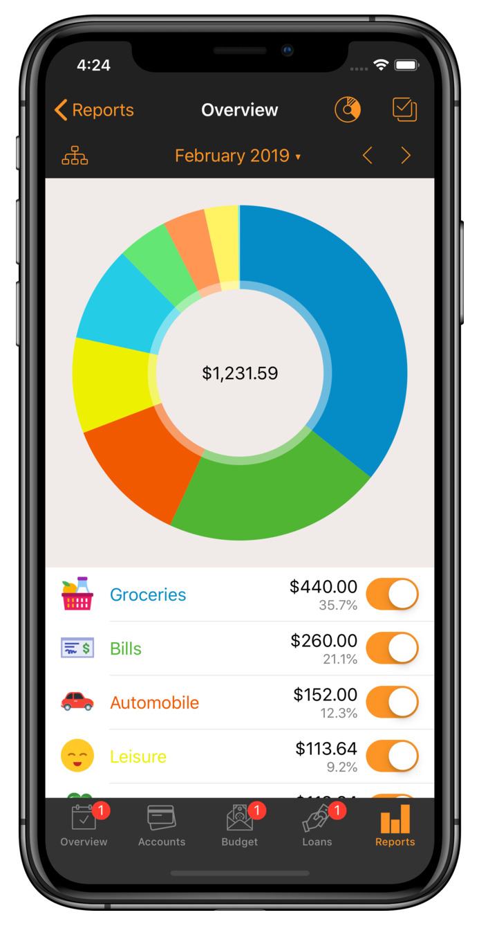 financial tracking app
